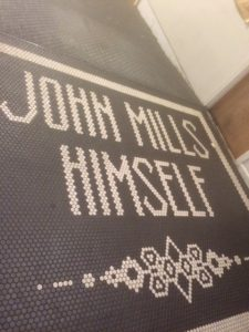 Floor tiles entering John Mills Himself