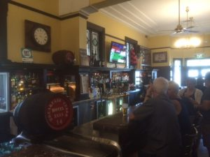 Inside the bar at the Breakfast Creek Hotel
