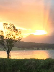 Original photo of sunset at Moogerah