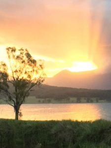 Original photo of sunset at Moogerah