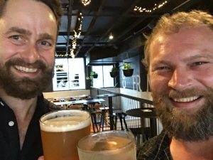 Amby and Kaner at Æther Brewing, Brisbane