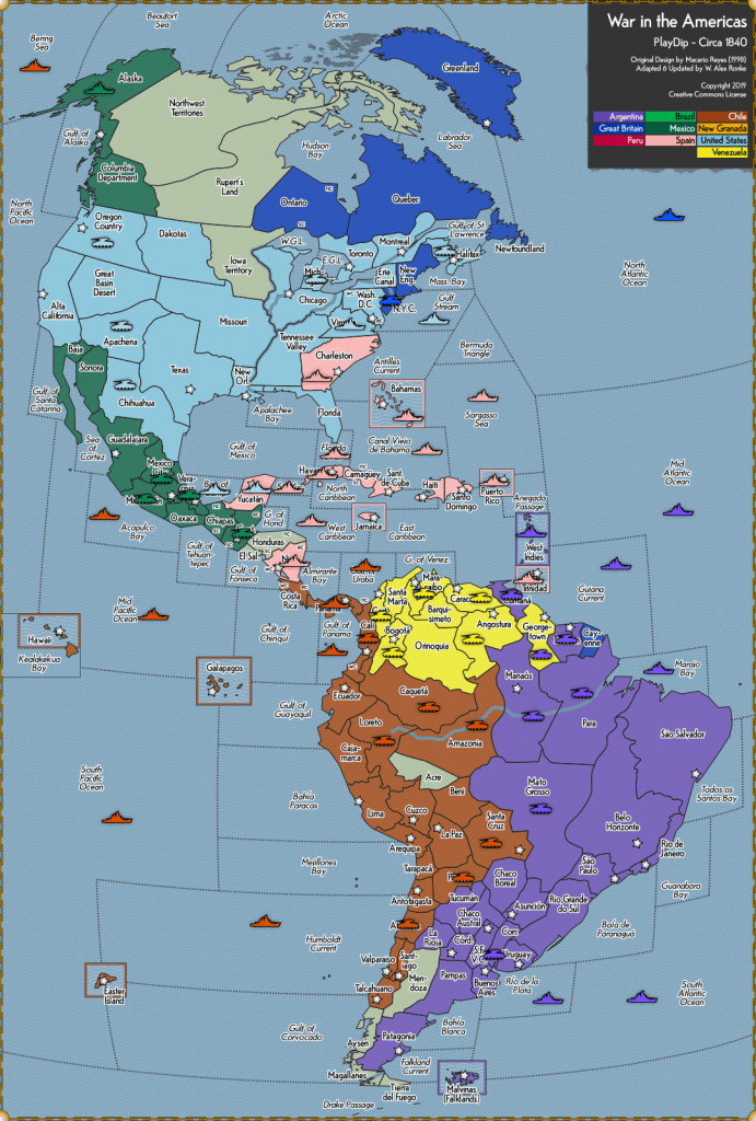 War in the Americas - Diplomacy Game