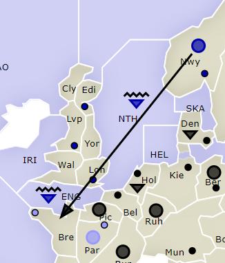 Multiple navies convoying in Diplomacy