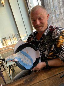 Kaner receives his Florida/USA Pan for his panhandle education