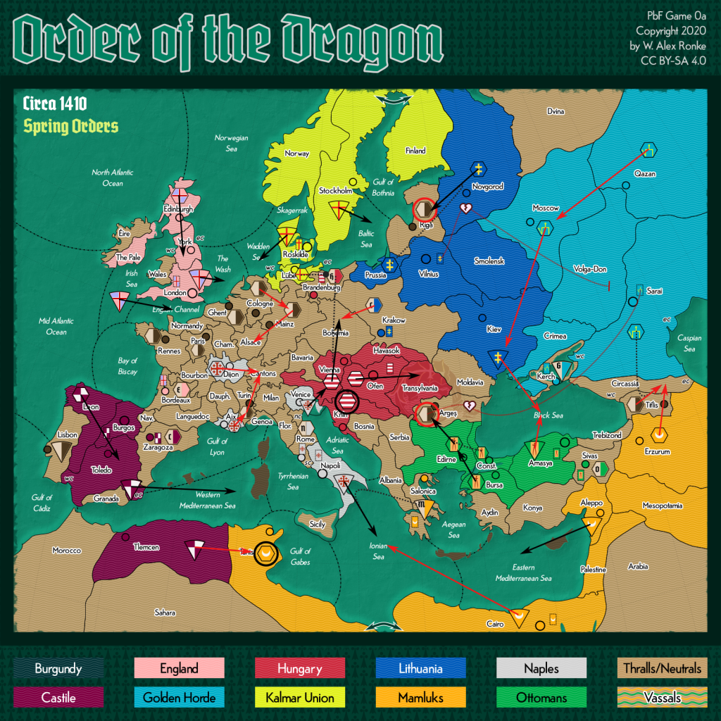 Order of the Dragon Diplomacy map