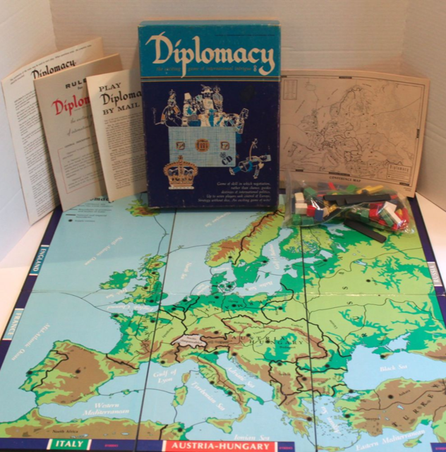 The version of the Diplomacy board Kaner learnt on