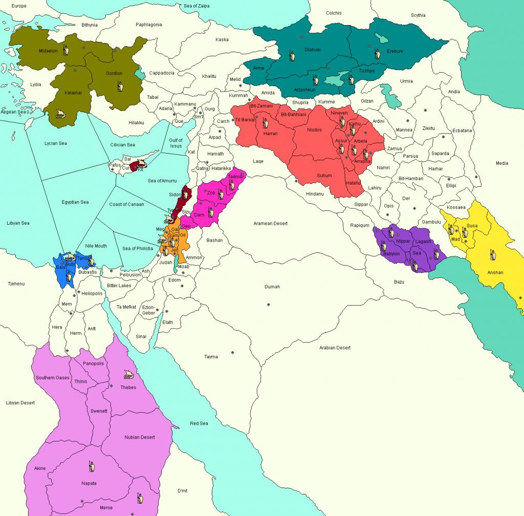 Tiglath-Pileser Diplomacy variant map